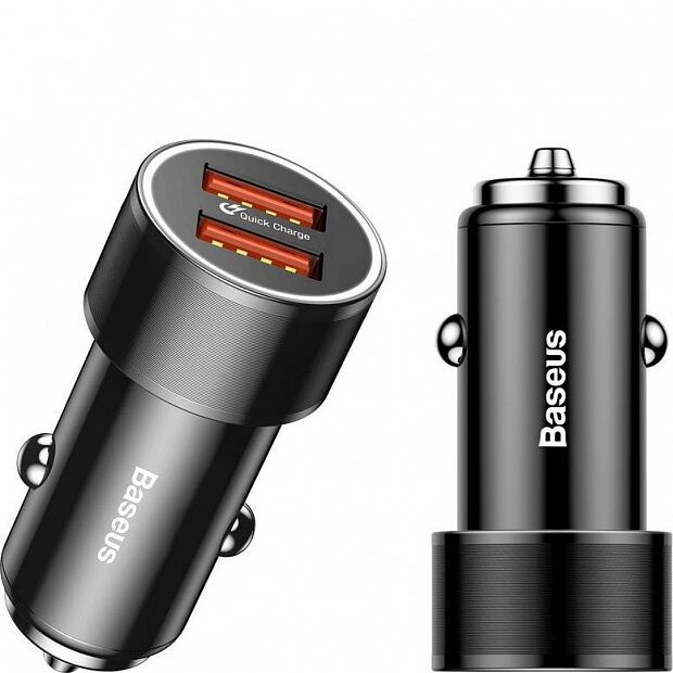Автомобильное ЗУ Baseus Screw Dual-USB Quick Charge Car Charger 36W CAXLD-B01 (Black/Черный)