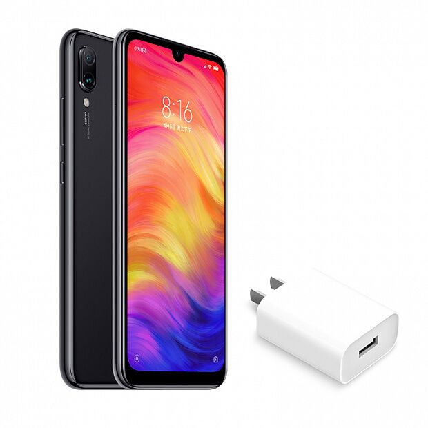 Смартфон Xiaomi Redmi Note 7 64GB/6GB + 18W адаптер (Black/Черный)